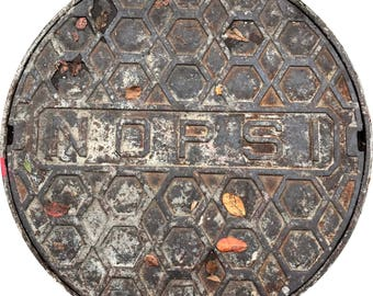 DOORMAT - New Orleans NOPSI Sewer Cover  - Original Photography
