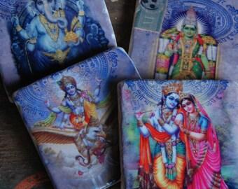 India Gods stone coaster set