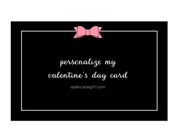 Personalized Valentine's Day Card