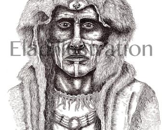 Indian Wolf - Art Print / Wall Décor / Wall Art / Home Décor