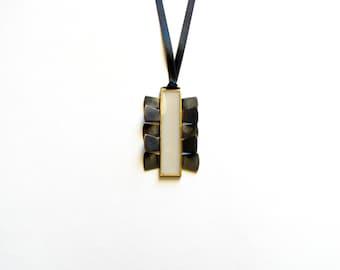 Greek Modern Necklace-Greek Pendant Necklace-Oxidized- Neckpiece-Modern Neckpiece-Greek Inspired-Contemporary Jewellery-Art Jewellery