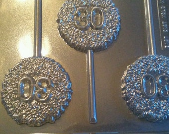 30th Celebration Chocolate Lollipop Mold