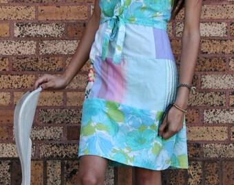 Wrap Around Kleid aus mit Stoff Scraps