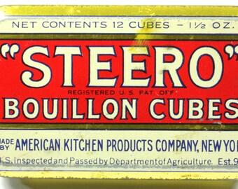 Steero Bouillon Cubes Tin