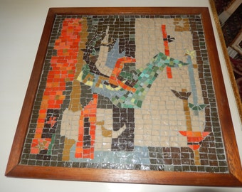 MID CENTURY TILE Wall Hanging