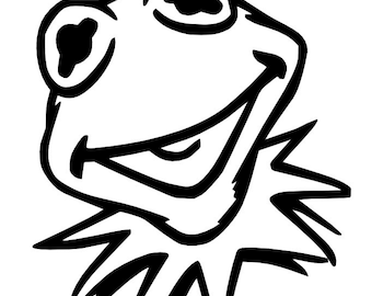 Muppets kermit the frog vinyl decal sticker car window vehicle
