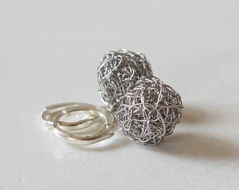 Stainless Steel Earrings Silver Earrings stainless steel Jewelry ball earrings 925 ball Earrings stainless Steel