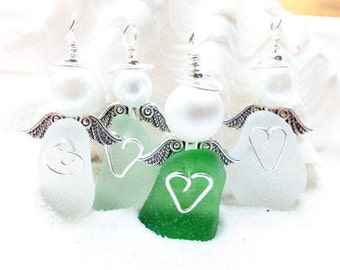 Sea Glass Angel, Beach Angel, Guardian Angel, Hospice Gift, Sympathy Gift, Angel Wings, Sea Glass Ornament, Gift For Teacher, Nurse Gift