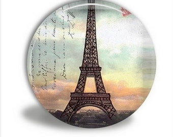 Pocket Mirror - Eiffel Tower Sunset