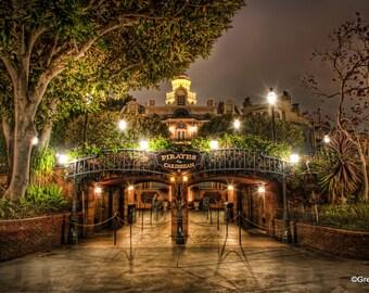 Disneyland's Pirates of the Caribbean, BUY 2 GET 1 8x12 print free !!! Metallic  Paper  / Metal Print
