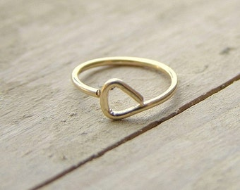 Triangle Hoop Cartilage Earring Nose Ring Helix Earring Gold Fill 8mm Inner Diameter 20 gauge