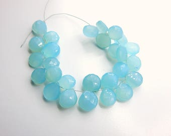 70%OFF Chalcedony Faceted Heart Beads - Chalcedony Briolette Beads Size 11x10.mm Approx -