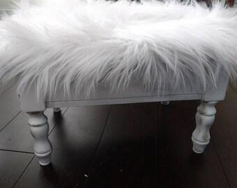 White Cloud Footstool