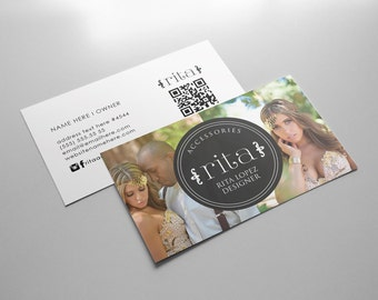 Rita double sided business card - Instant download