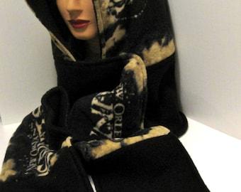 Handmade New Orleans Saints - Hooded scarf -  Scoodie - Football -  Fleece