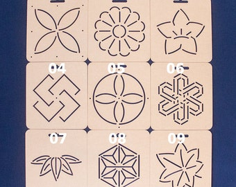 Sashiko Stencil By Acrylic -Sashiko Embroidery Pattern -Quilting Stencil | 9 types