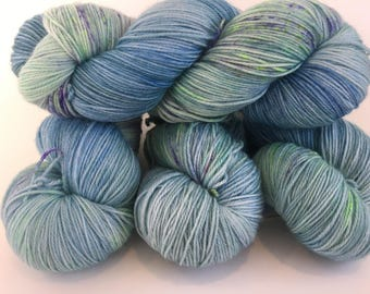 Hand Painted Speckled Sock Yarn