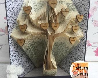 Tree Folded Book Art Pattern