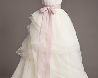 "Lilac Wedding Sash - 2"" - Romantic Luxe Grosgrain Ribbon Sash - Wedding Belt, Bridal Sash, Bridal Belt - Wedding Dress Sash - Purple Sash"
