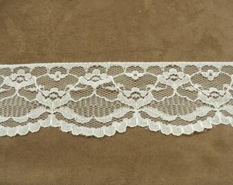 Ribbon lace - 5,5 cm - white