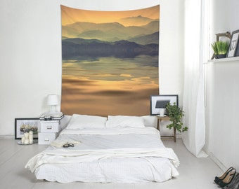 Mountain Tapestry, Mountain Lake, Mountains Tapestry, Landscape Wall Art, Large Wall Print. S001