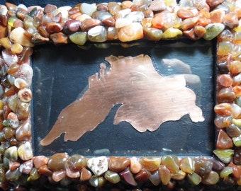 Lake Superior Agate 4x6 Inch Photo Frame