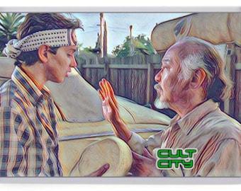 Memories of The Karate Kid Fridge Magnet Choice. Myagi, Larusso