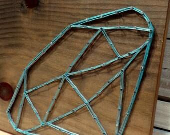 Faceted Diamond Crystal String Art Tablet