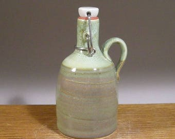12 oz , Stoneware Pottery , Solo Beer Growler , Mini Growler, Craft Beer Growler ,Makes a great home brewer gift !