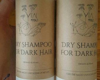 dry shampoo for dark hair, sacred hair care, organic dry shampoo, herbal dry shampoo, dry shampoo