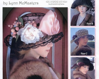 Ladies' Late Teens - Early 1920's Post WWI Hat in 4 Styles - Lynn McMasters Sewing Pattern # 52