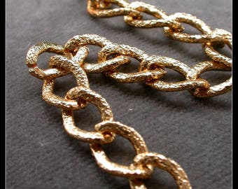 60cm color aluminum chain gold
