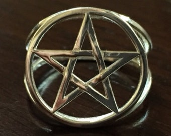 Pentacle ring - braided