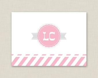 Personalized Stationery Set / Personalized Stationary Set / Bake Shoppe Bakery Note Cards