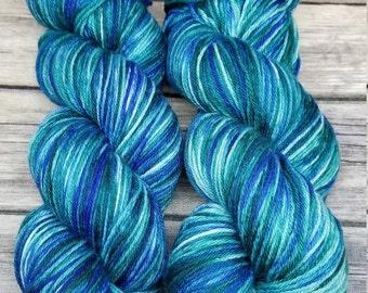 Sock Yarn - Superwash 75/25 Merino/Nylon - Kettle Dyed - Mermaid