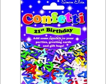 21st Birthday foil table confetti, birthday, age 21, supplies, 21st party, table decorations, UK seller, age confetti, 21st birthday
