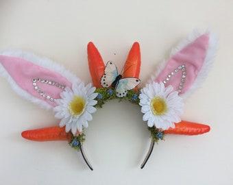 Rabbit Ears Carrot Crown Easter Headband