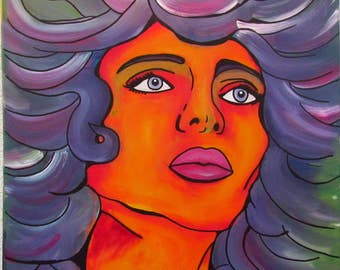 Original MisQue art | Acrylic painting longing 2 50 x 50 cm