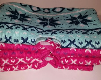 SALE Handmade Knitted Christmas Tree Skirt / Knitted Tree Skirt / Christmas Tree Skirt / Knitted Skirt/Tree Skirt/ Christmas / CIJ / Knitted