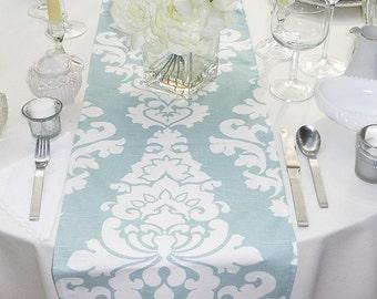 Choose your Table Runner, Blue Table Runner - Blue Wedding Linens - Blue Table Topper - Berlin Snowy Blue Table Runner
