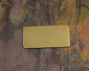 """10 Deburred 24G Brass 1/2"""" inch X 1"""" RECTANGLE Stamping Blanks"""
