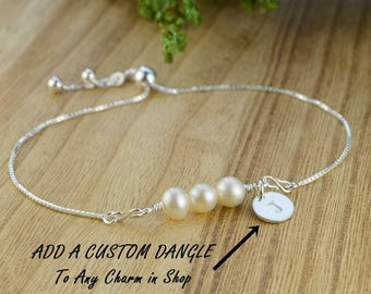 ADD A Custom DANGLE to Any Charm/Link to fit onto the Adjustable Sterling Silver Interchangeable Bolo Bracelets or Necklaces