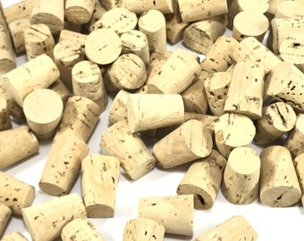 Sale 10 Tapered Corks, Natural Cork Stoppers, Small Corks, Wine Corks, Champagne Corks, Crafting Corks, Small Corks