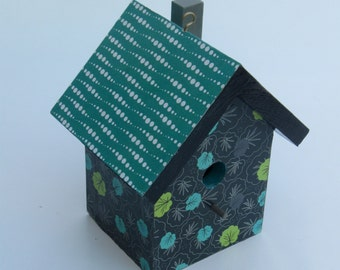 Art Deco decoupage birdhouse.