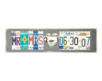 10th anniversary gift for him -10 year anniversary gift for husband - 10 year anniversary gift for him -10th anniversary gift of tin- Mr&MRS