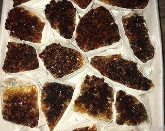 Citrine Cluster, Solar Plexus Chakra Stone,