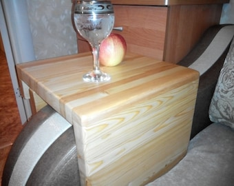 Simply Awesome Couch Sofa Arm Rest Wrap Tray Table (Extra Wide Widths)Siberian larch wood