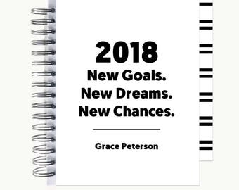 Bullet Journal – Personalized | Spiral | Dot Grid | Notebook | 2018 Quote