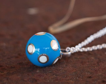 Harmony Ball - Angel Caller - Mexican Bola - Bola Necklace Charm - Chime Ball - Pregnancy Gift - Sterling Silver - Sphere Pendant Only