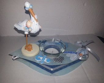 Windlicht - Teelicht -Taufe - Geburt